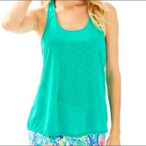 Lilly Pulitzer Luxletic teal tank top NWT